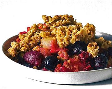 We'll begin with Gordon's favourite : fruit crisp ,