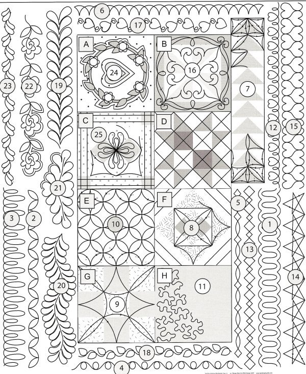 On the mark some new and old favourites for marking your for Quilting templates free